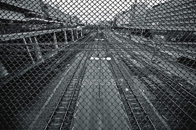 Bahngleise in Stockholm — Stockfoto