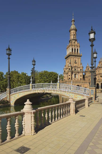 Bridge over water in spain — Stock Photo
