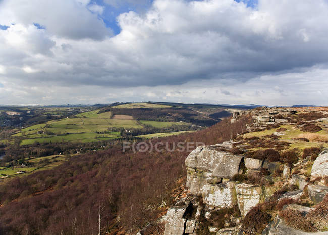 Curbar Rand Kinderscout Peak — Stockfoto