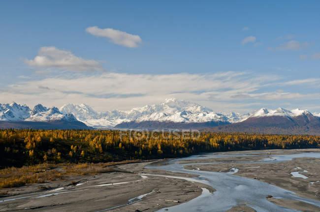 Southside vista do Monte Mckinley e caçador de Mt. — Fotografia de Stock
