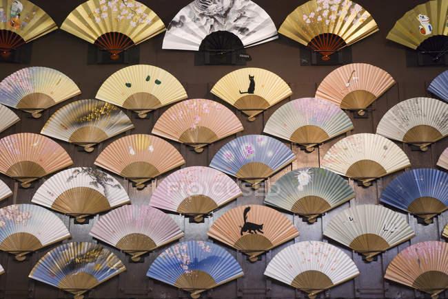Japanese fans on market — Stock Photo