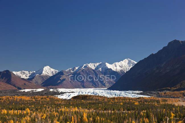 Matanuska Glacier And Chugach Mountains — Stock Photo