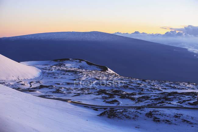 Blick vom Mauna Kea Sternwarten — Stockfoto