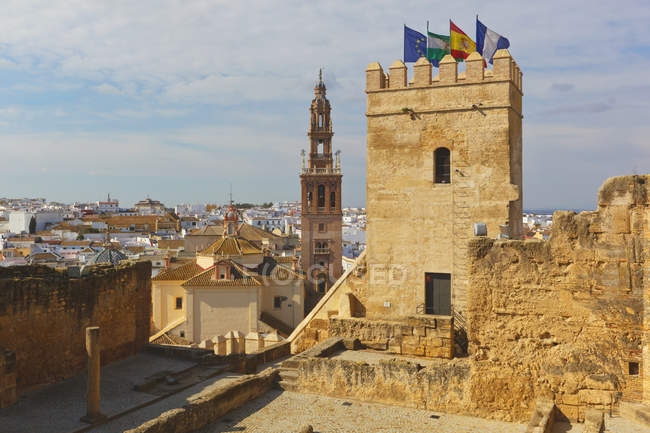 Alcazar With Church Of San Pedro — Stock Photo