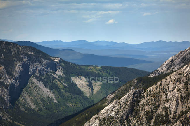 Looking through rocky mountains — Stock Photo