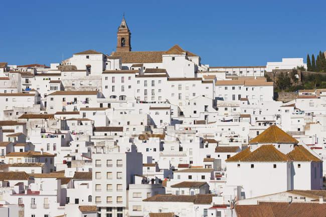 Imbiancate città di montagna — Foto stock