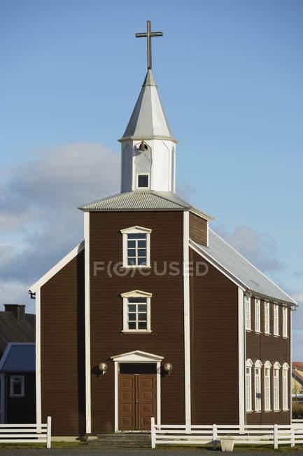 Dorf Kirche Eyrarbakki — Stockfoto