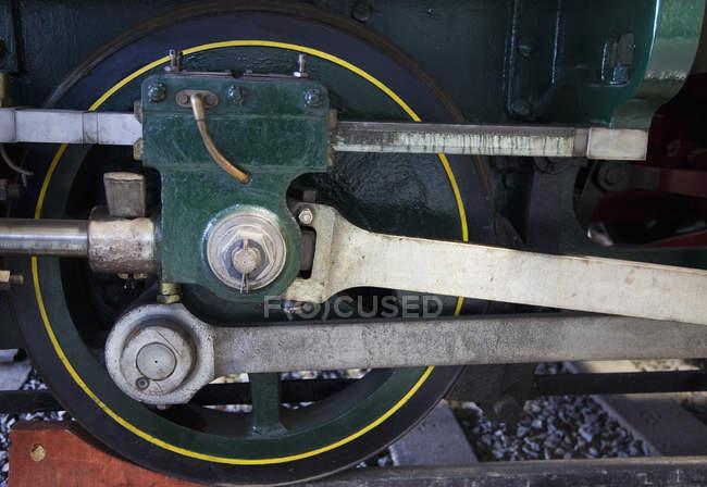Close up of train wheels — Stock Photo
