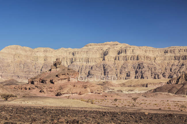 Cliffs in the timna valley — Stock Photo