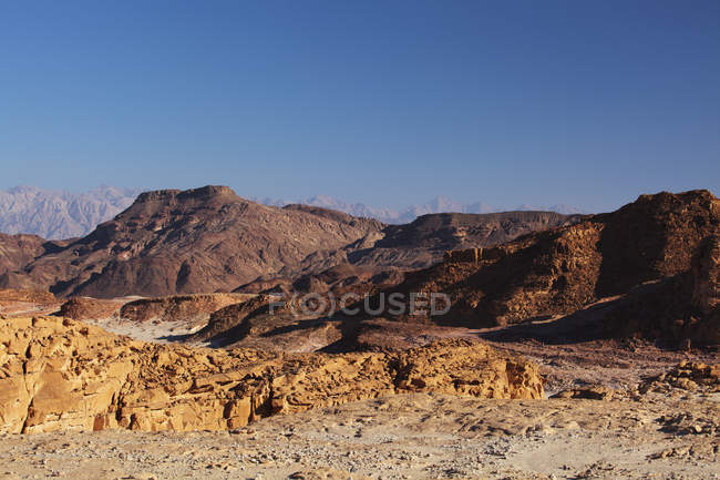 Landscape in the timna valley — Stock Photo