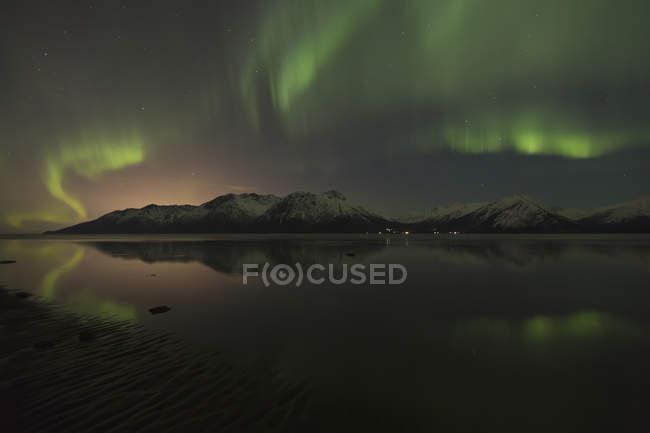 Ansicht der Aurora Borealis — Stockfoto