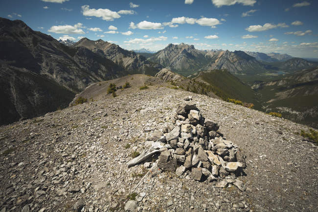 Cairn at one of the summits — Stock Photo