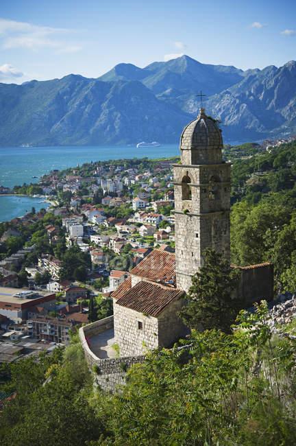 Baia di kotor in Montenegro — Foto stock