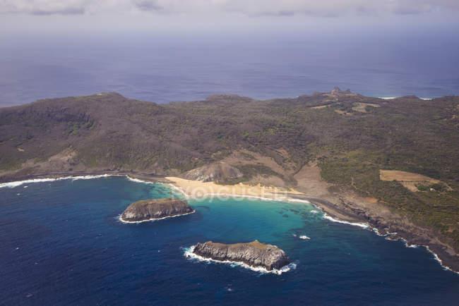 Veduta aerea della costa — Foto stock