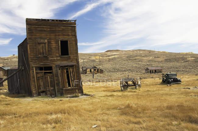 Ciudad fantasma minera de oro - foto de stock