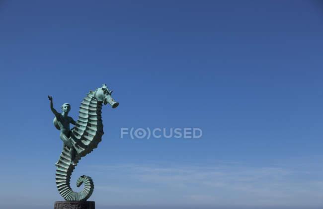 Escultura de cavalo-marinho no México — Fotografia de Stock