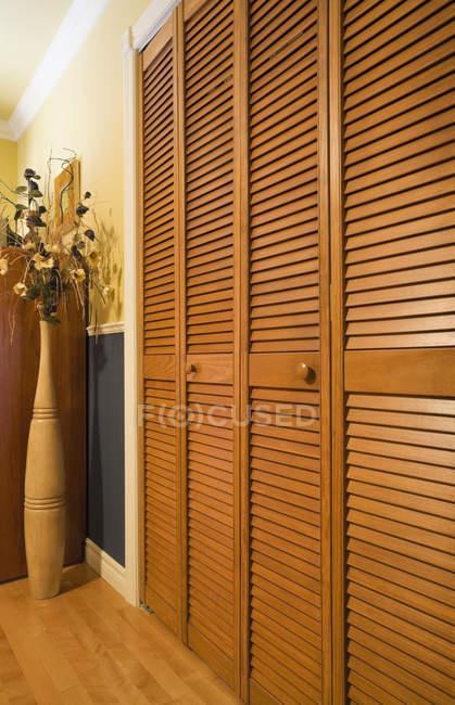 Wooden Closet Doors — Stock Photo