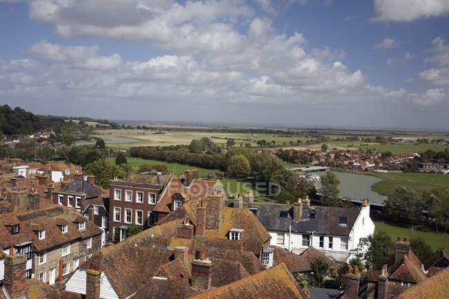 Pastagens e telhados em azulejo — Fotografia de Stock