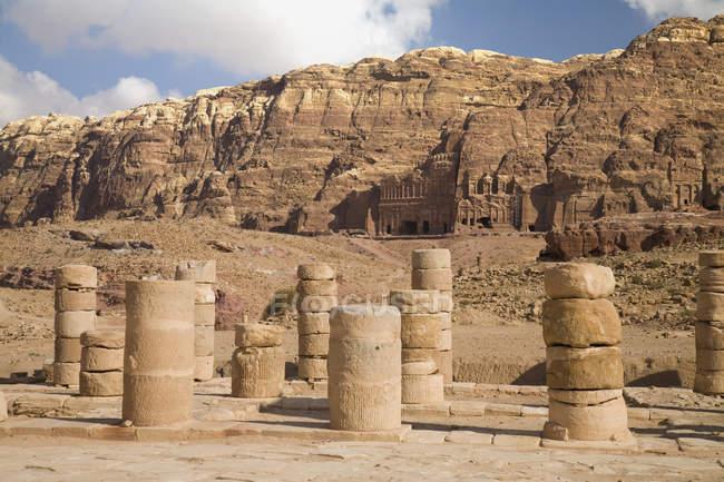 Ruins Of Nabatean City — Stock Photo
