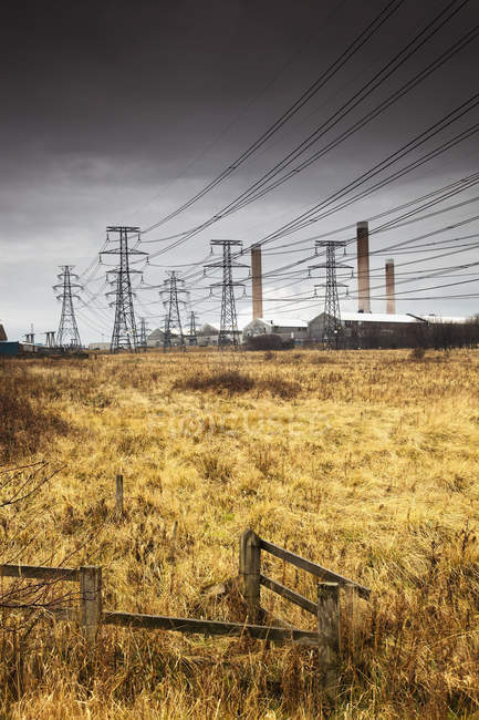 Electrical-Power Transmission Lines — Stock Photo