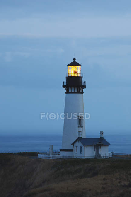 Sunrise At Yaquina Head Lighthouse — Stock Photo
