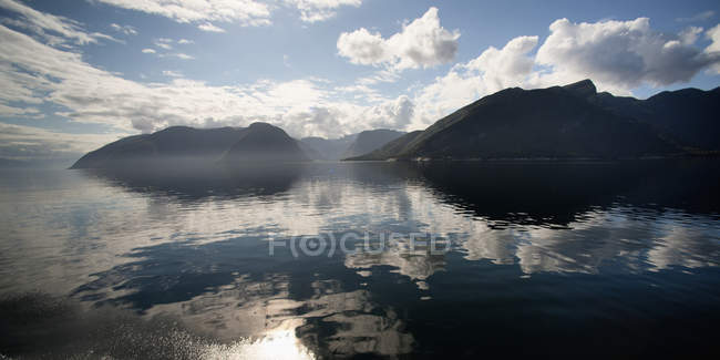 Clouds Reflected In Sognefjord — Stock Photo