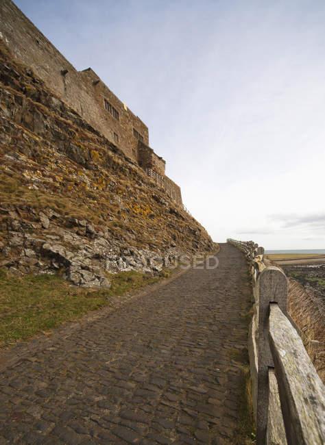 A Cobblestone Path Along The Coast — Stock Photo