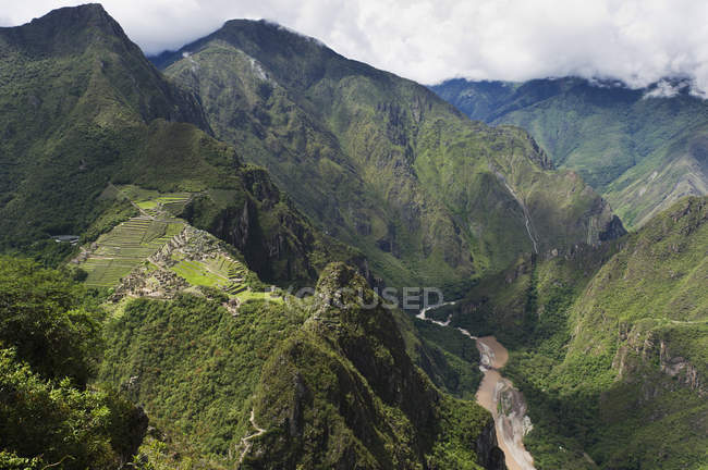 Исторический сайт инков Мачу-Пикчу — стоковое фото