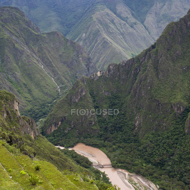 High Angle View Of Andes Mountains — Stock Photo