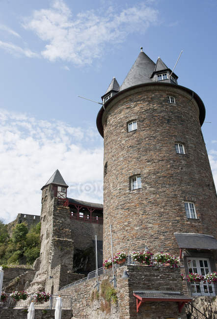 Burg Stahleck Now A Youth Hostel — Stock Photo