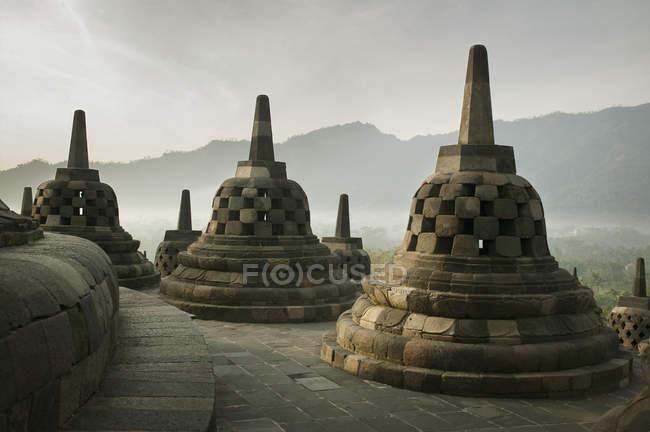 Borobudur Temple on top — Stock Photo