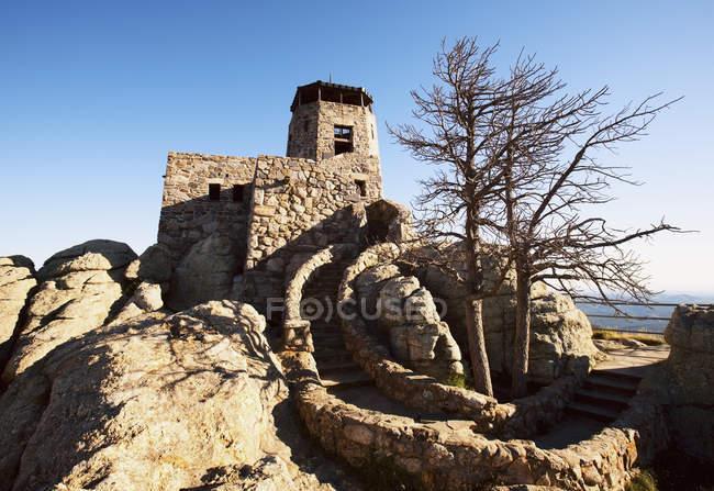 Stone Building At Harney Peak — Stock Photo