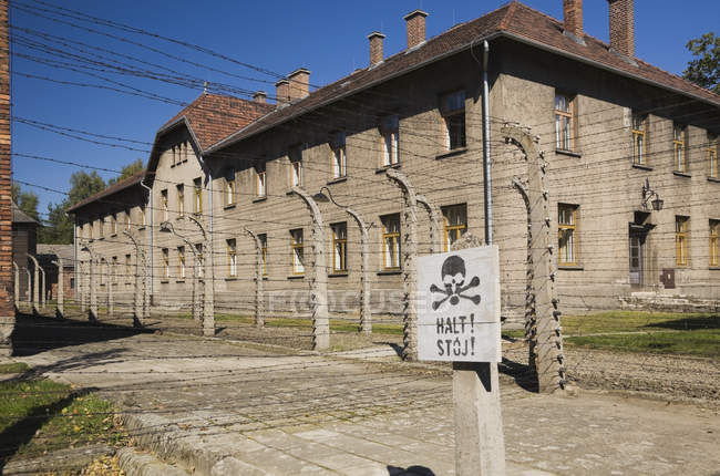 The Auschwitz I Former Nazi Concentration Camp — Stock Photo