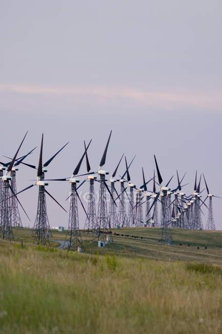 Ветряные мельницы, используемые для производства электроэнергии — стоковое фото