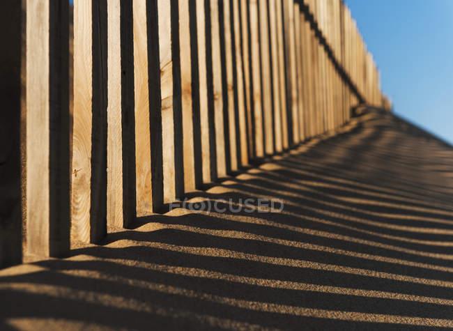 Забор в Пунта-Паломе — стоковое фото