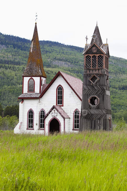 Old White Frontier Church — Stock Photo
