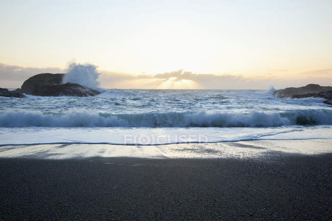 Waves At South Beach In Pacific — Stock Photo