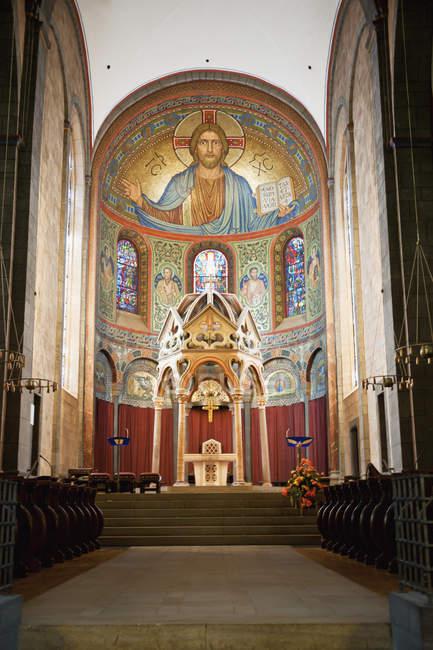 Apsismosaik des Christus Pantokrator — Stockfoto
