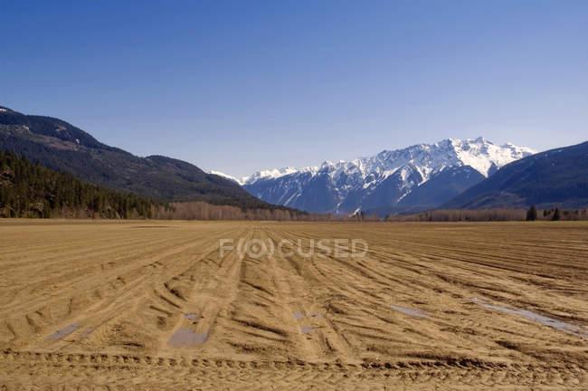 Орали поля чекати для посадки навесні — стокове фото