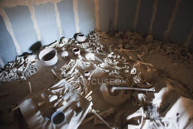 Погребальная камера в Лос Мильярес — стоковое фото