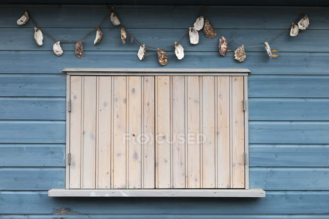 Window Closed With Shutters — Stock Photo