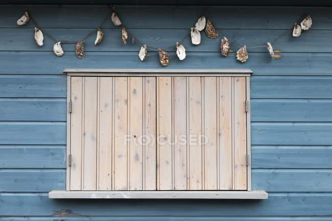 Fenster mit Rollläden geschlossen — Stockfoto