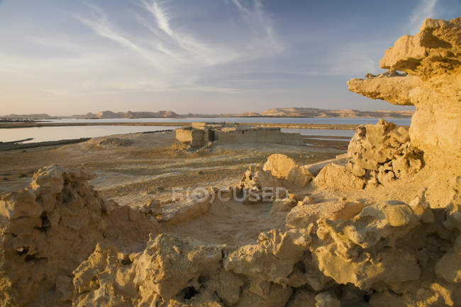 Abandoned Sand Buildings — Stock Photo