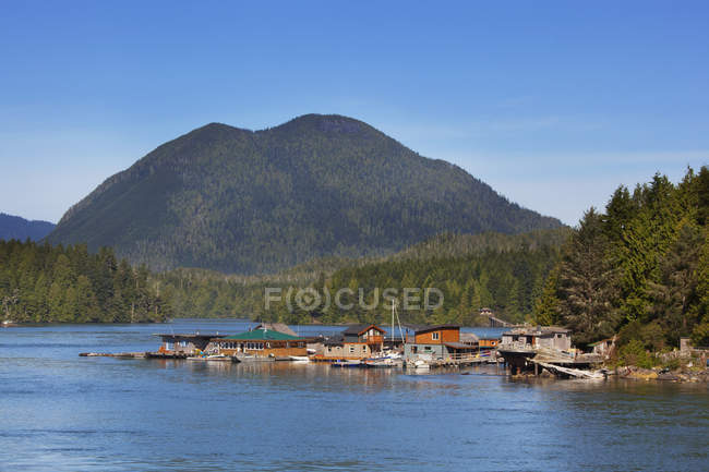 Float Homes In The Harbour — Stock Photo