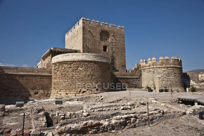 Torre Del Homenaja Keep — Stock Photo