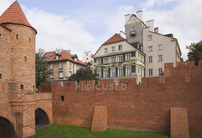 Fortification Wall in Warsaw — Stock Photo