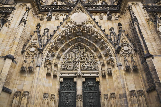 Gothic Style Facade Of Cathedral — Stock Photo