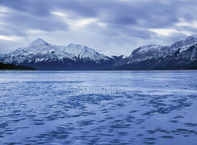 Авраам озеро в зимовий період — стокове фото