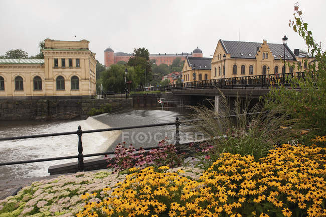 Fyris River And Pump Houses — Stock Photo