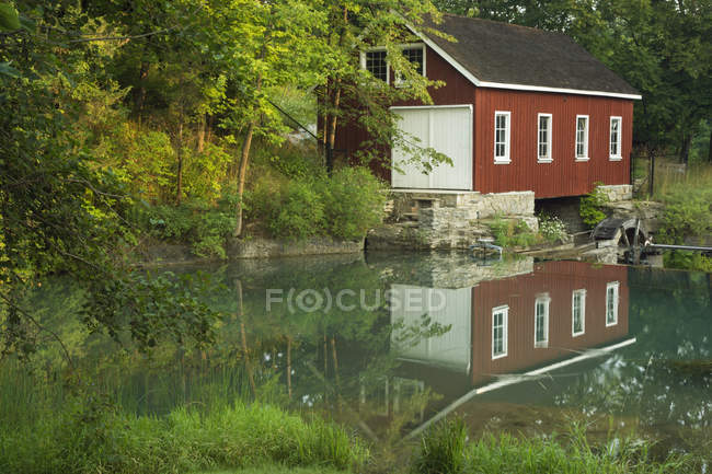 Small red house — Stock Photo
